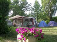 Camping avec pisicine à Baratier Embrun, lac de serre poncon hautes-alpes