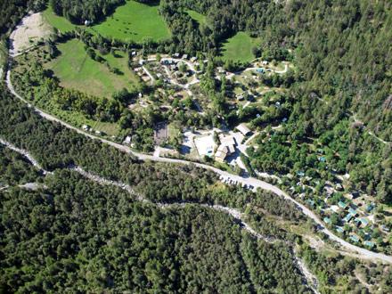 Roulottes des Alpes Camping Les Airelles Baratier
